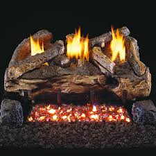 peterson real fyre 18 inch evening fyre split gas log set with vent free