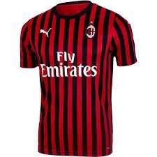 Puma Size Chart Football Shirt Puma Ac Milan Home Jersey 2019 20