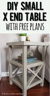 Small DIY X End Nightstand