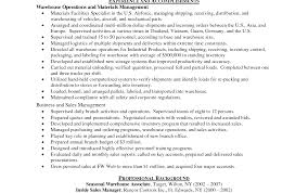 Amazing Warehouse Associate Job Description Resume Ornament