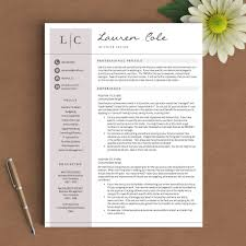 Creative Resume Template The Lauren Cole
