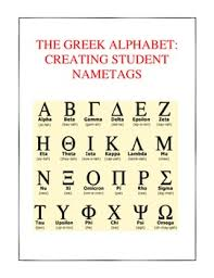 Greek Alphabet Chart Printable Ancient Greece Writing Student Names Using The Greek Alphabet