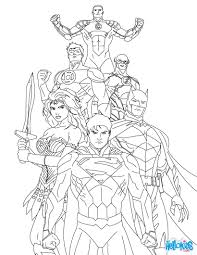 Super Heroes Coloring Pag Perfect Justice League Coloring Pages To ...