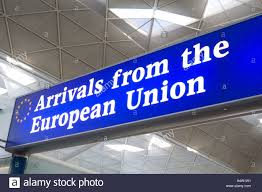 customs and excise stock photos customs and excise stock images arrivals from the european union customs channel at stansted airport england britain uk
