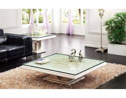 large square glass coffee table marble