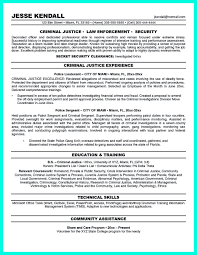 Resume Summary Section Criminal Justice Resume Uses Summary Section