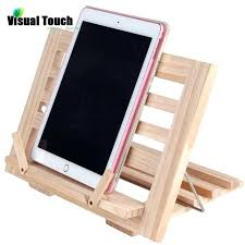 visual touch luxury wooden recipe book stand cookbook holder mobile rack doent holders target cook book stand