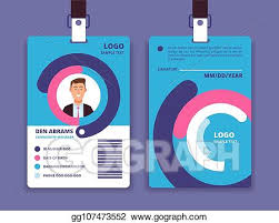 Eps Vector Corporate Id Card Professional Employee