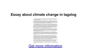 essay about climate change in tagalog google docs