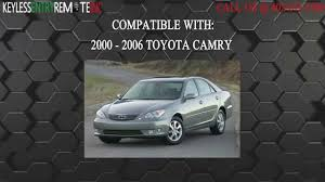 How To Replace Toyota Camry Key Fob Battery 2000 2006 - YouTube