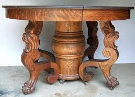 best oak tiger images on round table antique pedestal dining