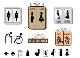 Toilet Sign Vector Set Royalty Free Cliparts Vectors And Stock Gorgeous Bathroom Sign Vector Style