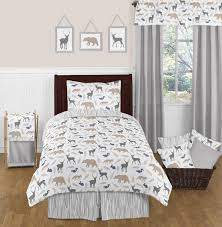 ingenious inspiration ideas kids animal comforter sets blue gray and white safari twin size bed boys bedroom set