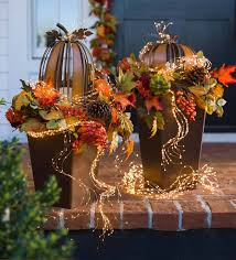 Glass Pumpkins Decor With Micro Lights Firefly Bunch Lights Starry Lights Fairy Lights Decor