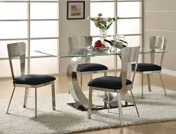 Full Size of Kitchen, Acrylic dining set and kitchen table creamy wooden  flooring white fur ...