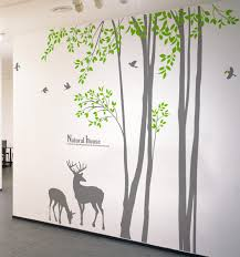 deer and tree wall decals