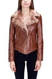 women s fur lined leather biker jacket