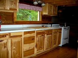 Hickory Kitchen Cabinets Kitchen 5 Rustic Hickory Kitchen Cabinets With Black Oven And