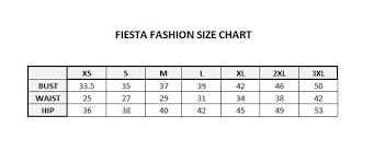 Fiesta Size Chart Fiesta Fashion 87026 2018 Arrival Long Dress Ft87026
