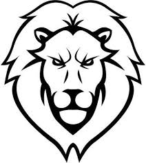 lion face black and white clipart.  Clipart Lion Head Illustration Design Intended Face Black And White Clipart L