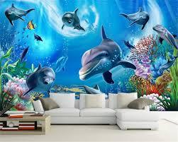 Beibehang 3d Onderwaterwereld Aquarium Kinderkamer 3d Behang