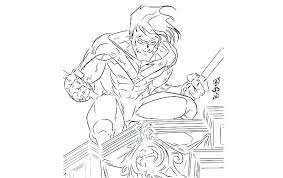 justice league coloring book page pages young in and justic