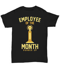 Employee Of The Month Trophy Employee Of The Month Runner Up Funny Job Trophy