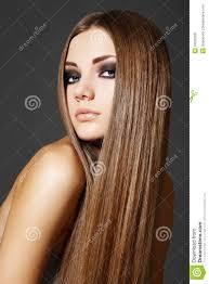 Langhaar Model Stilvolle Frisur Website Foto Blog