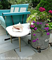 eclectic outdoor furniture. eclectic patio love the mixture of new and vintage pieces creative planters outdoor furniture t