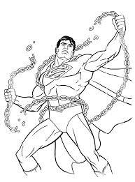 Superman Kleurplaat Superman Breekt Kettingen