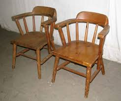 solid pine wooden captains chairs