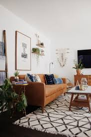 Leather Sofa Makeover Living Room Makeover With West Elm New Darlings