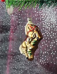 Pferd Braun Ca 9cm Hoch Christbaumschmuck Aus Glas Mundgeblasen Und Handbemalt