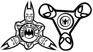Batman Fidget Spinner Coloring Pages Color Bros