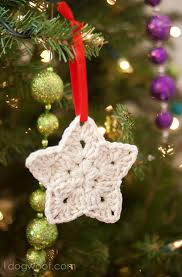 Crochet Christmas Ornaments Patterns Best Crochet Star Ornament Pattern One Dog Woof