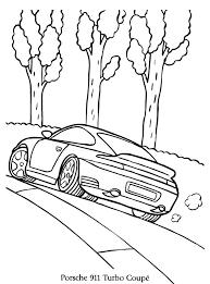 Porsche 911 Kleurplaat Jouwkleurplaten