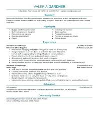 Store Manager Resume Best Retail Assistant Store Manager Resume