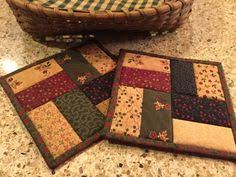 quilted potholder patterns | Quilted by stitching near the edges ... & Quilted Potholders / Hot Pads / Item #1155 Adamdwight.com