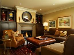 Living Room Mirrors Decoration Big Living Room Mirror Big Sofa And Brown Classic Chairs Infront