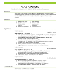 Best Production Freight Associate Resume Example Livecareer