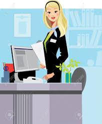 office administrator stock vector illustration and royalty office administrator cartoon secretary