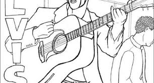 Small Picture elvis presley colouring pages Archives Cool Coloring Pages and
