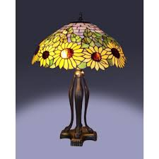 Serena Ditalia 25 In Tiffany Bronze Style Sunflower Table Lamp