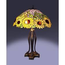 tiffany bronze style sunflower table lamp