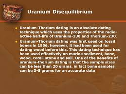 uranium-thorium dating technique