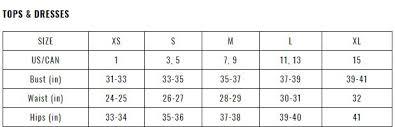Fashion Nova Jeans Size Chart Size Chart