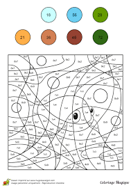 Coloriage Magique Multiplications Sur Hugolescargot Com