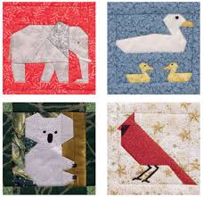 Animal Quilt Patterns Custom It's Back 48 Animal Quilt Blocks To Paper Piece Giveaway