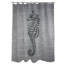 vintage shower curtain. Vintage Seahorse Shower Curtain G