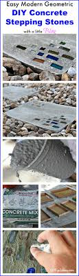 Diy Stepping Stones Diy Modern Geometric Concrete Stepping Stones